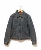 D&G(ドルチェ&ガッバーナ)の古着「[OLD]バックロゴパッチデニムジャケット」|インディゴ