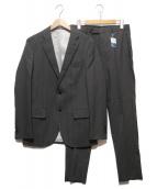 ()の古着「ストライプ2Bスーツ」 グレー
