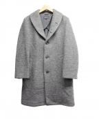 THREE DOTS(スリードッツ)の古着「ショールカラーウールコート」|グレー