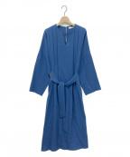 ebure(エブール)の古着「ドライブッチャーワンピース」 ブルー
