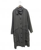 慈雨(ジウ)の古着「ウールデザインコート」|ブラウン