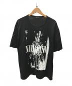 LAD MUSICIAN(ラッドミュージシャン)の古着「NIHILISMプリントTシャツ」 ブラック
