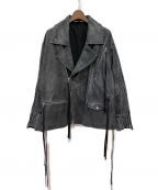 Jieda()の古着「19AW LEATHER RIDERS JACKET」|ブラック