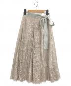 VERMEIL par iena(ヴェルメイユパーイエナ)の古着「カラーレースラップスカート」 ベージュ