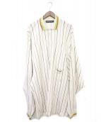 Y. PROJECT(ワイプロジェクト)の古着「スーパービッグポロシャツ」|ベージュ