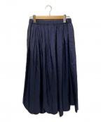 ROBE DE CHAMBRE COMME DES GARC(ローブドシャンブル コムデギャルソン)の古着「サテンスカラップスカート」 ネイビー