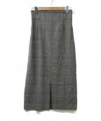 ROPE(ロペ)の古着「グレンチェックスカート」|グレー