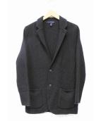 LARDINI(ラルディーニ)の古着「アルパカ混2Bニットジャケット」|ブラック