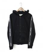 OFFWHITE()の古着「ジップパーカー」|ブラック