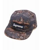 Supreme(シュプリーム)の古着「ドッグ&ダックボックスロゴキャンプキャップ」|ネイビー