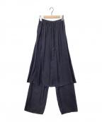 ATON(エイトン)の古着「キュプラシルクスカートパンツ」 ネイビー