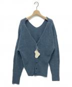 Little suzie(リトルスージー)の古着「Merino Wool Slash Knit」 サックスブルー