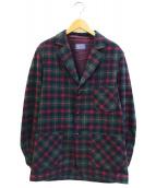 ()の古着「[古着]ヴィンテージチェックジャケット」|グリーン