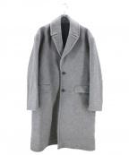 kuro(クロ)の古着「オーバーサイズチェスターコート」|グレー