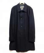 HUGO BOSS()の古着「ウールステンカラーコート」 ネイビー