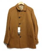 MICHEL KLEIN(ミッシェルクラン)の古着「メルトンコート」|ブラウン