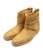 BALMAIN(バルマン)の古着「13SS ベルト ブーツ」 ブラウン