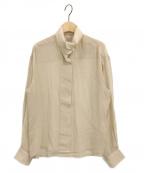 BASERANGE(ベースレンジ)の古着「シルクシャツ」|ベージュ