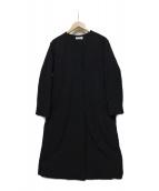 23区(ニジュウサンク)の古着「グログランパフィー中綿コート」|ネイビー