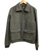 ()の古着「ツイードアビエータージャケット」|グレー