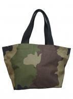 Herve Chapelier(エルベシャプリエ)の古着「カモ柄舟形トートバッグ」|カーキ×ベージュ