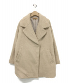 Ameri VINTAGE(アメリビンテージ)の古着「UNDRESSED ROUND SHAGGY COAT」|ベージュ