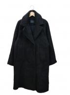 ()の古着「シャギーオーバールーズコート」 ブラック