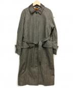 NOMBRE IMPAIR(ノンブルアンペール)の古着「ライナー付クラブチェックコート」 グレー×ブラック