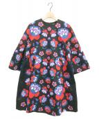marimekko(マリメッコ)の古着「7分袖ワンピース」|ブラック