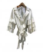 MUVEIL()の古着「カシュクールブラウス」|アイボリー