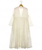 HOUSE OF LOTUS(ハウスオブロータス)の古着「カディコットンギャザードレス」 ホワイト