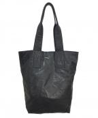 ANN DEMEULEMEESTER(アンドゥムルメステール)の古着「レザートートバッグ」|ブラック