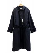 MARGARET HOWELL(マーガレットハウエル)の古着「ステンカラーコート」|ネイビー