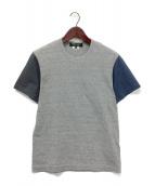 COMME des GARCONS HOMME DEUX(コムデギャルソン オム ドゥ)の古着「切り替えTシャツ」|グレー