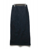 LAppartement × Americana(アパルトモン × アメリカーナ)の古着「スウェットタイトスカート」|ネイビー