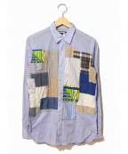 JUNYA WATANABE COMME des GARCON MAN(ジュンヤワタナベ コムデギャルソンマン)の古着「パッチワークシャツ」|スカイブルー
