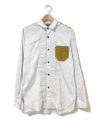 JUNYA WATANABE COMME des GARCON MAN(ジュンヤワタナベ コムデギャルソンマン)の古着「60/40クロス切替シャツ」|ホワイト