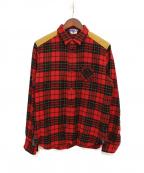 JUNYA WATANABE COMME des GARCONS MAN(ジュンヤワタナベコムデギャルソンマン)の古着「チェックシャツ」|レッド