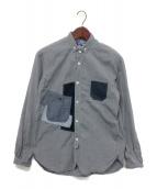 JUNYA WATANABE COMME des GARCONS(ジュンヤワタナベ コムデギャルソン)の古着「パッチワークシャツ」|グレー