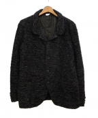 COMME des GARCONS HOMME(コムデギャルソン オム)の古着「ツイードニットジャケット」|ブラック