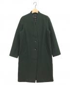 ROSSO(ロッソ)の古着「ウールカシミヤノーカラーコート」 グリーン