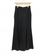 JUNYA WATANABE COMME DES GARCONS(ジュンヤワタナベ コムデギャルソン)の古着「ロングタックフレアスカート」|ブラック