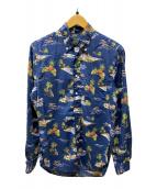 ()の古着「総柄シャツ」|ネイビー