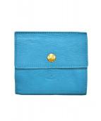 IL BISONTE(イルビゾンテ)の古着「2つ折り財布」|ブルー