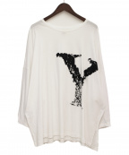 B Yohji Yamamoto(ビーヨウジヤマモト)の古着「B/Y PRINT SHORT SLEEVE」 ホワイト