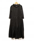COMME des GARCONS(コムデギャルソン)の古着「サテンボリュームドレス」 ブラック