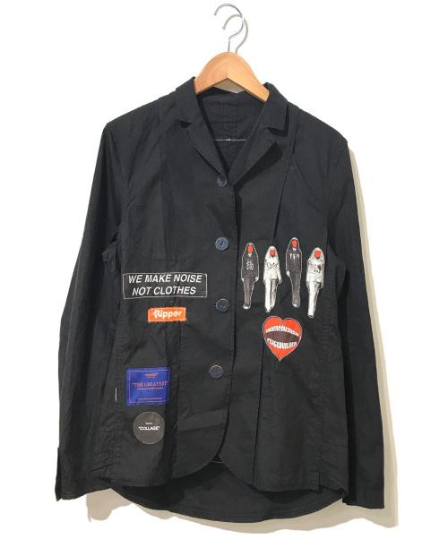 UNDERCOVER(アンダーカバー)UNDERCOVER (アンダーカバー) コラージュパッチジャケット ブラック サイズ:表記なし COLLAGE・コラージュの古着・服飾アイテム