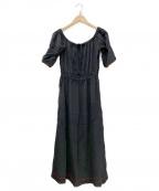 GANNI(ガニー)の古着「シルクワンピース」|ブラック