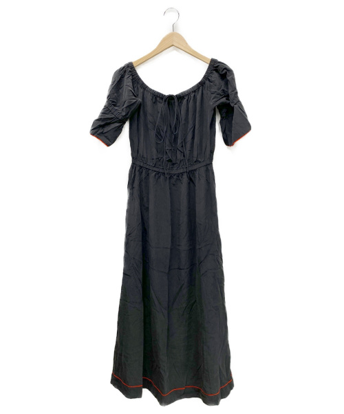 GANNI(ガニー)Ganni (ガニー) シルクワンピース ブラック サイズ:36の古着・服飾アイテム