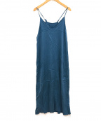 GALLARDA GALANTE(ガリャルダガランテ)の古着「キュプラキャミドレス」 ブルー